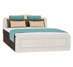Кровать двуспальная Фиеста-М КР-504 160x200 венге / дуб беленый