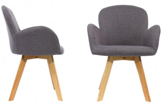 Стул Asia wooden legs / grey fabric